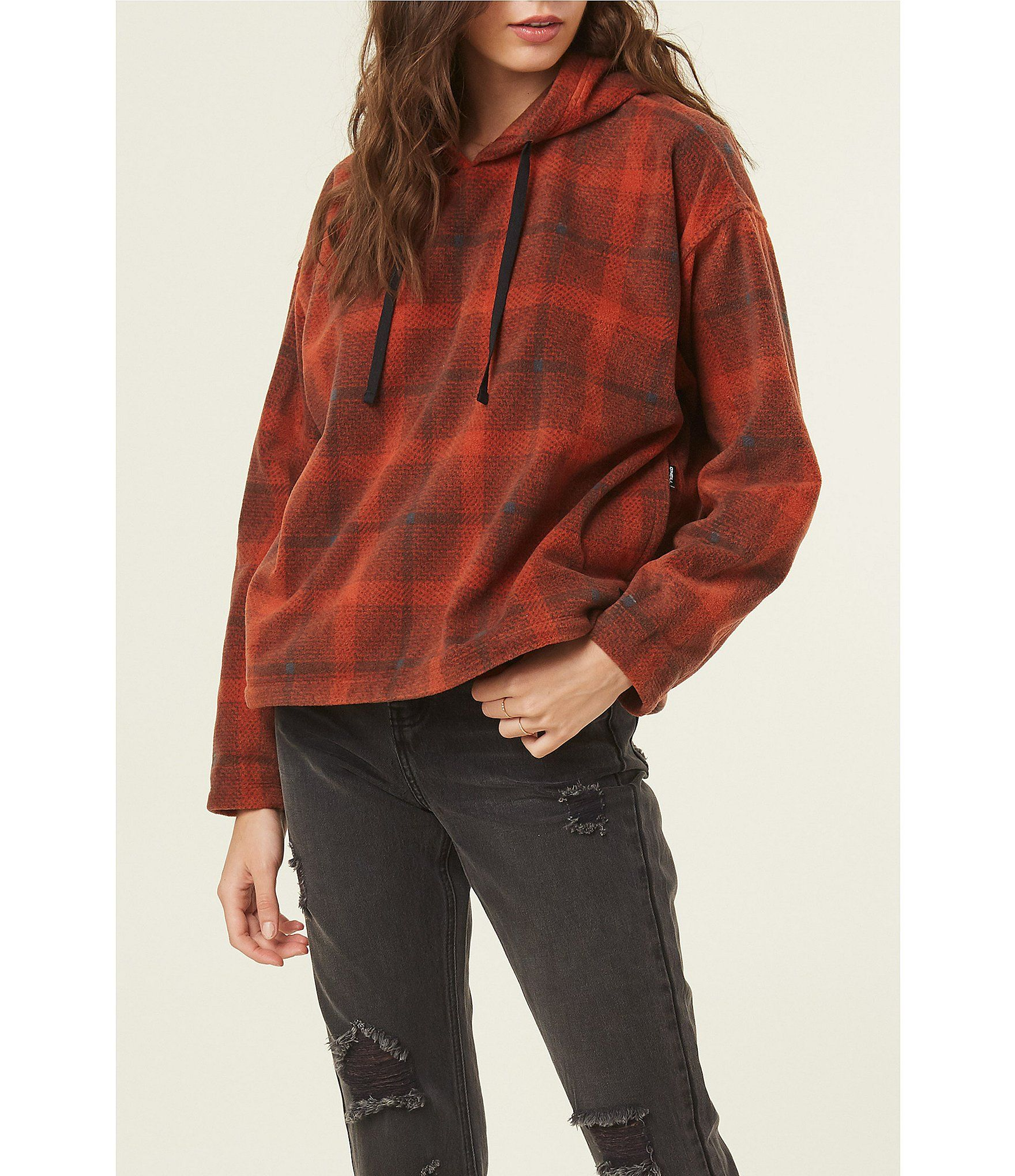O'Neill Hampton Stripe Long Sleeve Fleece Hoodie | Dillard's #stripedlongsleevetops