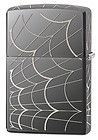 Zippo New 2014 Choice Catalog  Spider Web All Around Black Ice 28527 | ZippoCollectibles