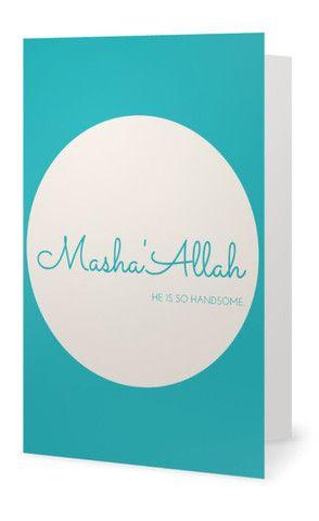 Mashaallah baby boy islamic greeting card for new baby or aqeeqah mashaallah baby boy islamic greeting card for new baby or aqeeqah m4hsunfo