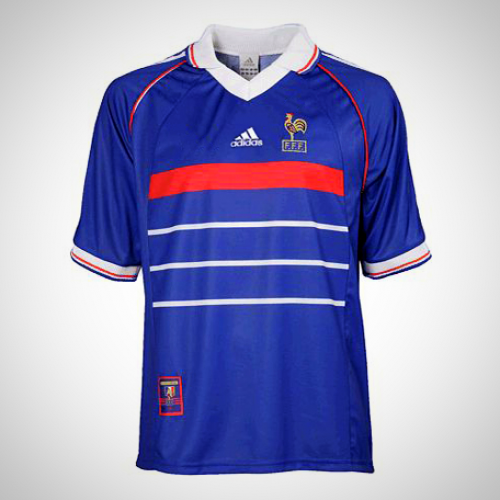 France 1998 Home Fussball Retro Soccer Jersey Football Shirt