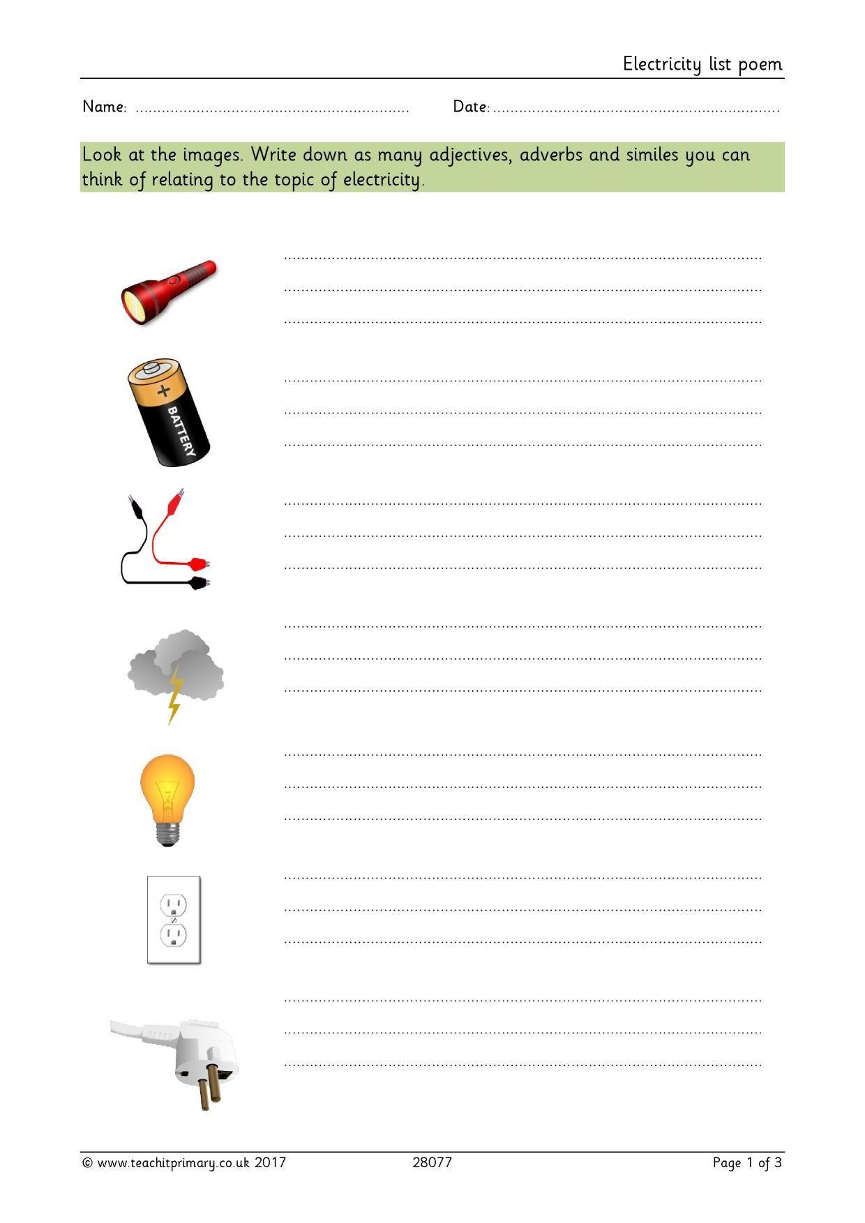 Bill Nye Electricity Worksheet In