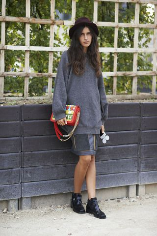 Street Chic: Shades of Gray and A Pop of Color in Paris