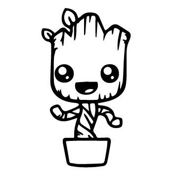 vinyl decal sticker - baby groot decal for windows, cars, laptops