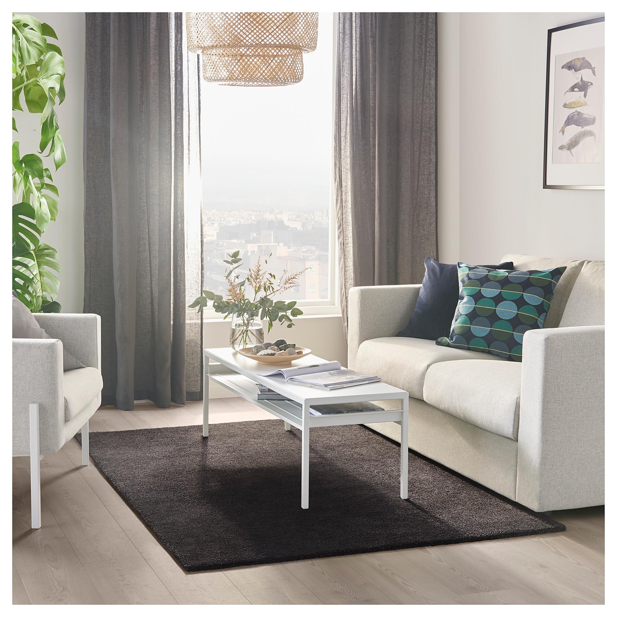 IKEA STOENSE Rug, low pile dark gray Living room grey