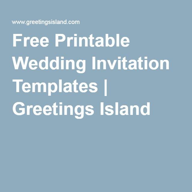 free printable wedding invitation templates greetings island b i