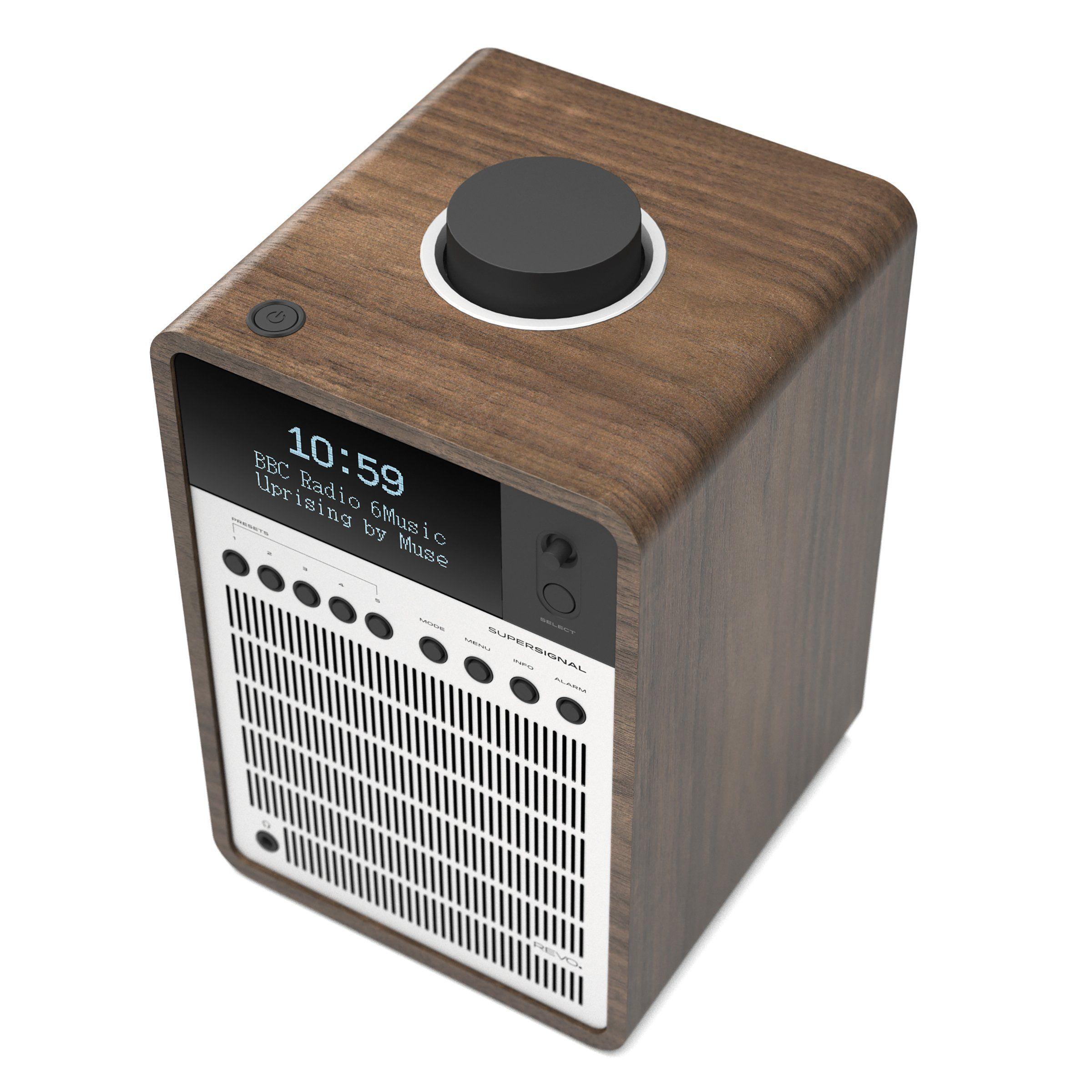 Revo SuperSignal Radio / Connected Speaker - Walnut / Silver