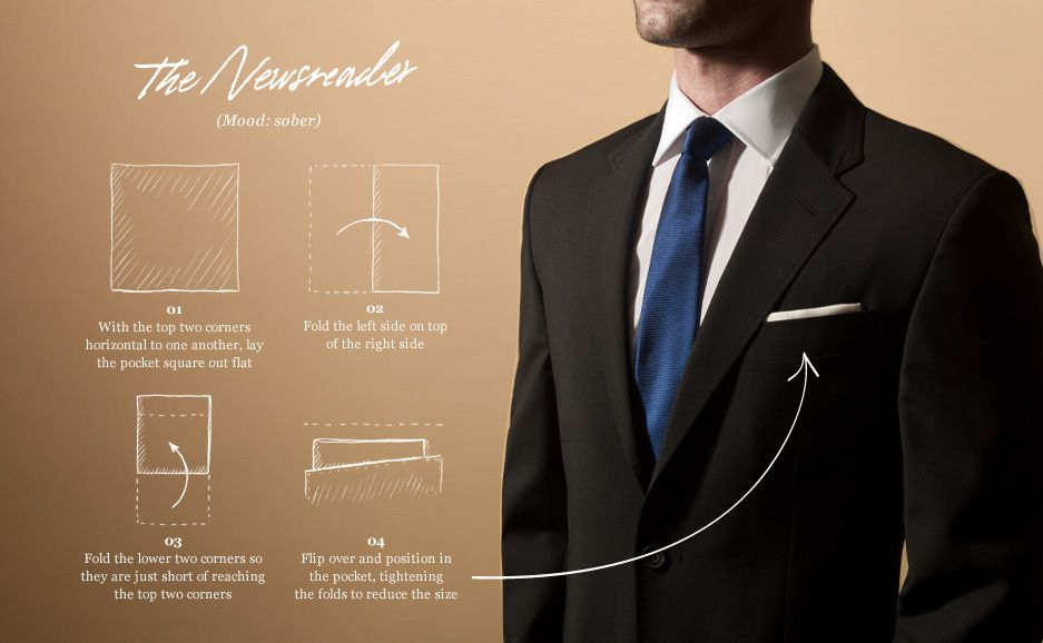 Pocket Square - The Newsreader