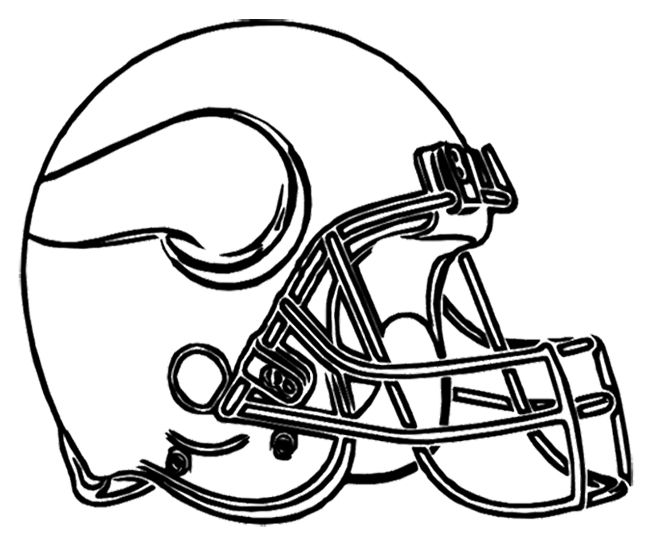 Minnesota Vikings Football Helmet Coloring Page Football