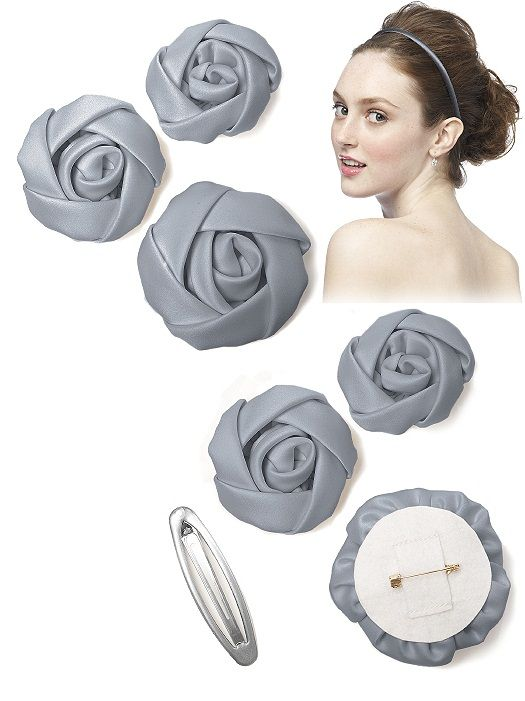 Set of 3 Flowers and Headband http://www.dessy.com/accessories/set-of-3-flowers/#.VWtQgE1FDDc