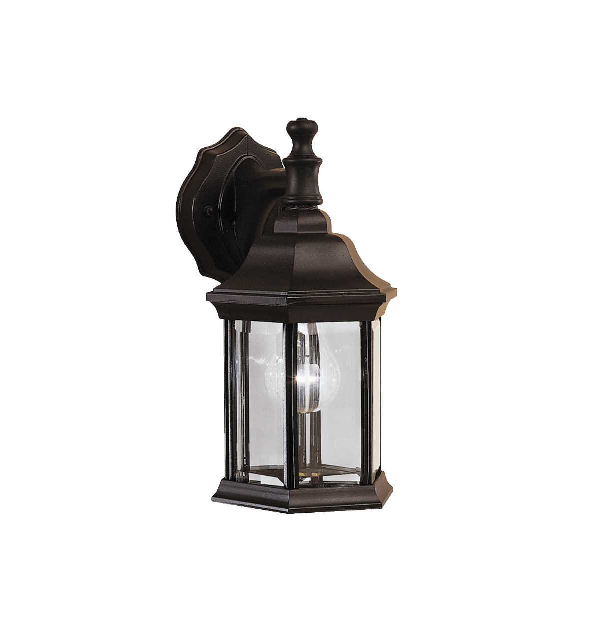 "Chesapeake 1 light Outdoor 12.5"" wall lamp in Black"