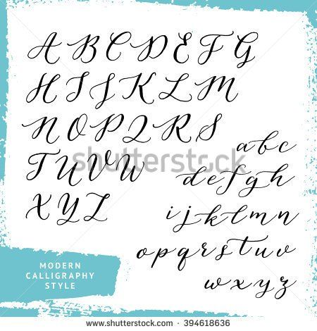 Modern Calligraphy Style Handwritten Script Alphabet Uppercase And Lowercase Letters Script Alphabet Handwriting Alphabet Typography Alphabet