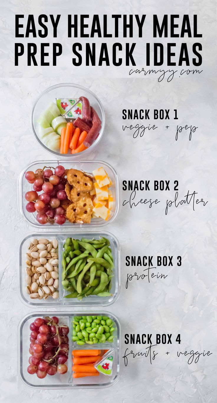 Easy Healthy Meal Prep Snack Ideas - Carmy - Run Eat Travel