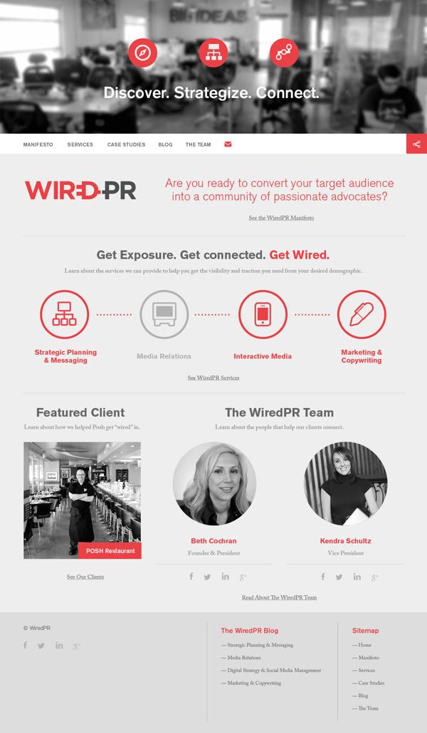 WiredPR Group by RMA, via Behance