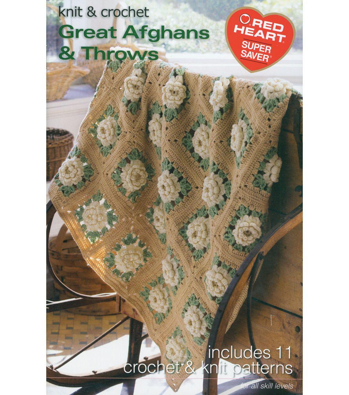 Coats & Clark Books - Great Afghans & Throws - Yarn & Needle Arts ...
