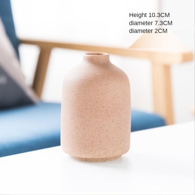 Simple Retro Frosted Ceramic Vase – B