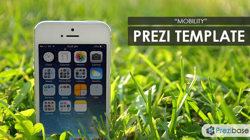 prezi template for a mobile themed presentation present your