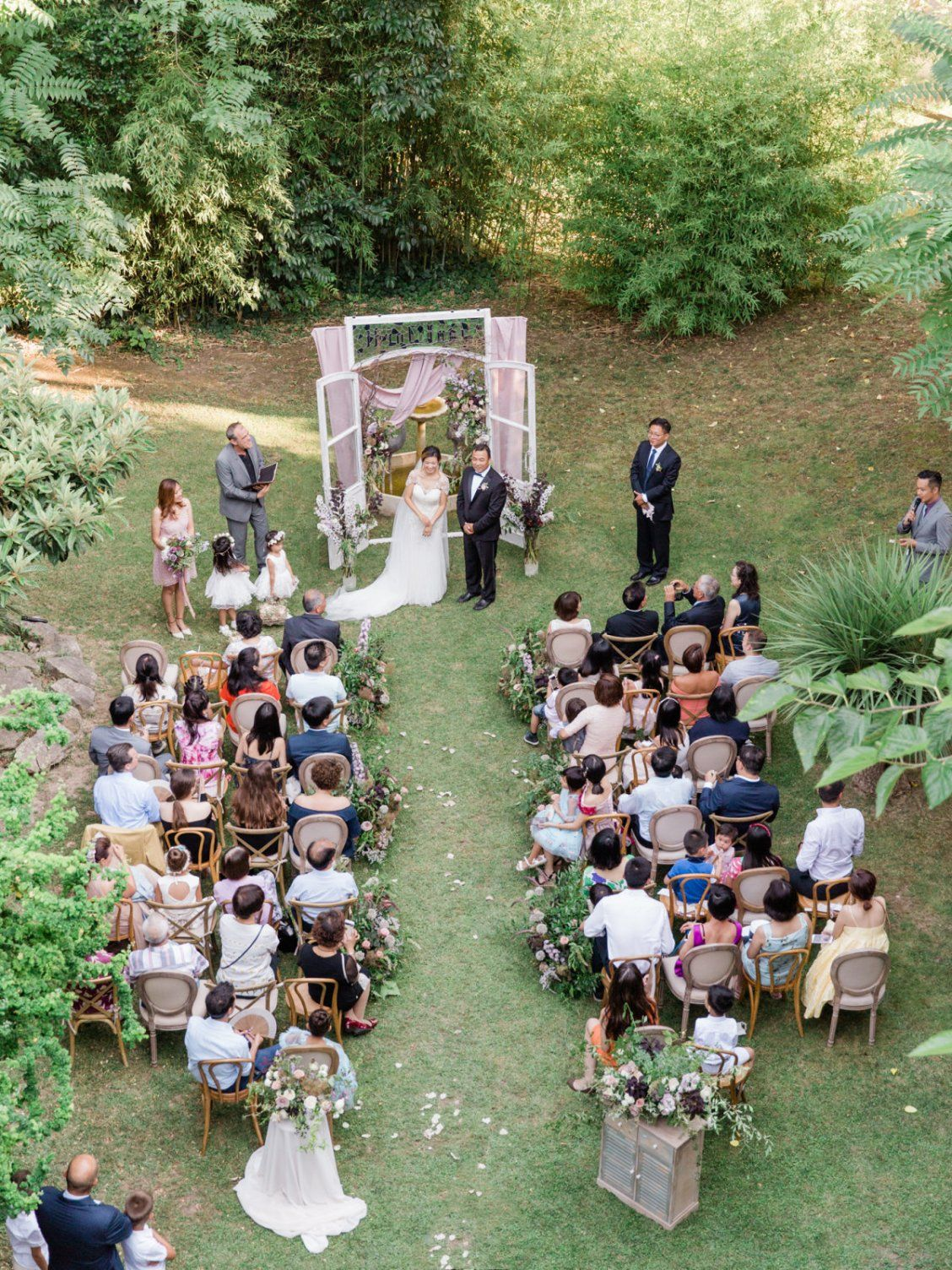 An Intimate Wedding At Barcelona S Villa Catalina Backyard Wedding Ceremony Small Backyard Wedding Small Outdoor Wedding