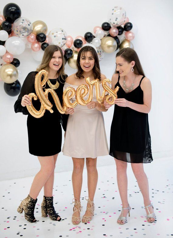 Graduation Party Decor - Graduation Balloon - Cheers Balloon - Grad Party Supplies - College Graduation - New Year's Eve Decor