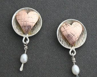 Cab with Hanging Pearl earrings  34b5958616f