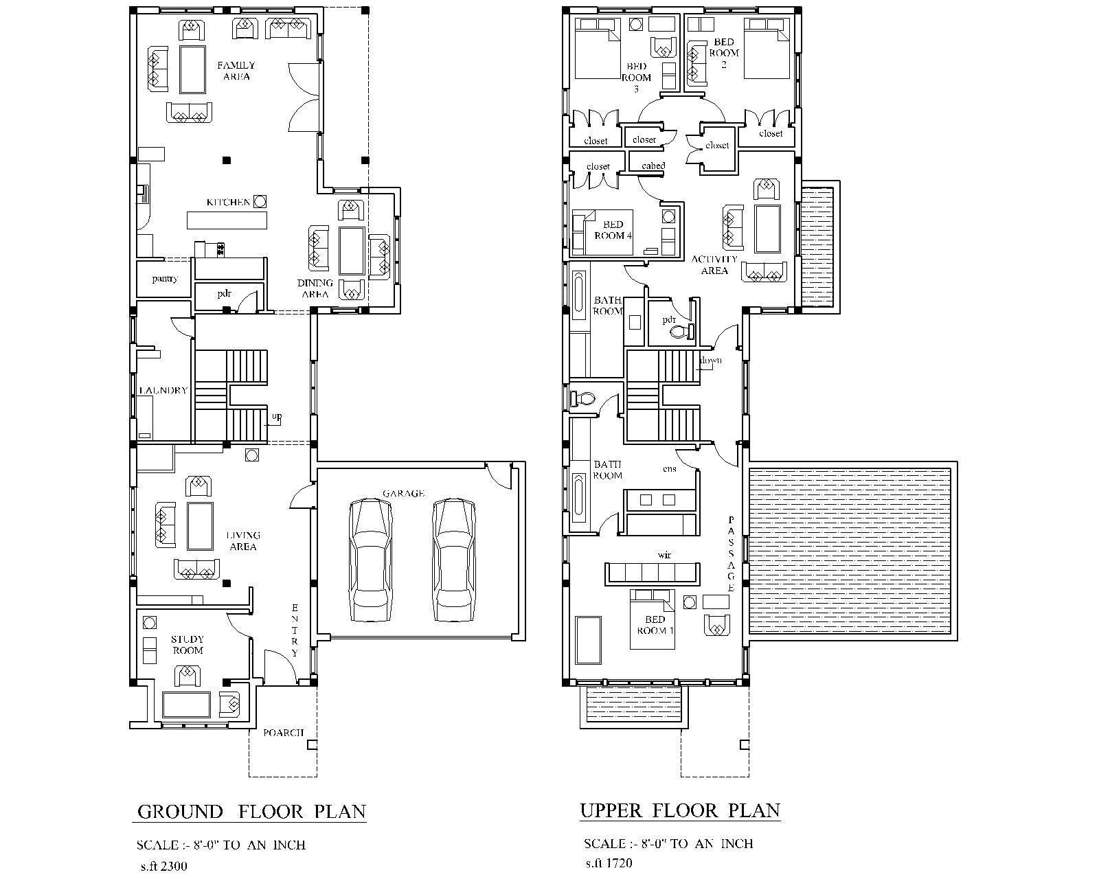 Modern House Plan Pdf Total 4020 Sf New Smart Home Complete House Plan 2 Story Ebay House Plans House Plans 2 Story Modern House Plan
