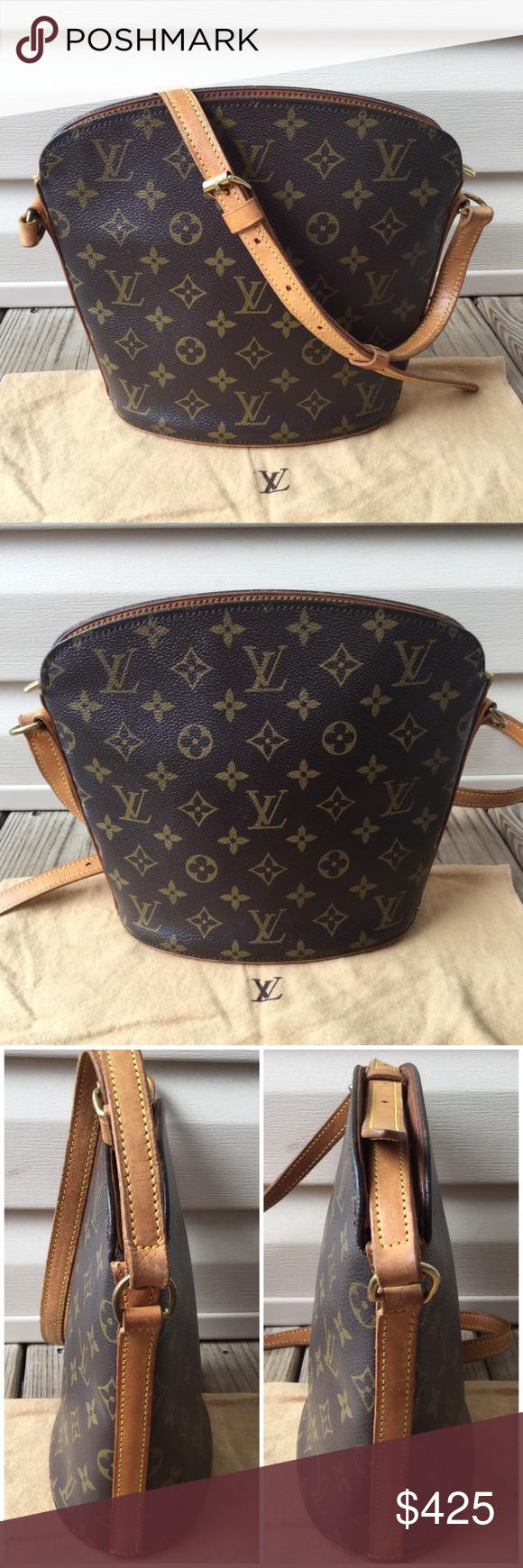 💯Authentic Louis Vuitton Drouot Crossbody Bag Authentic. Date code  VI  0966 3903cd2814c7