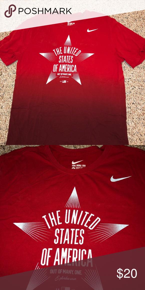 Nike Olympics Team USA Shirt Nike  The United States of