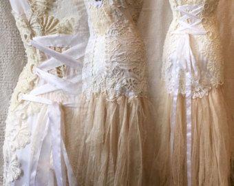 Fairy wedding dress alternative wedding Victorian by RAWRAGSbyPK