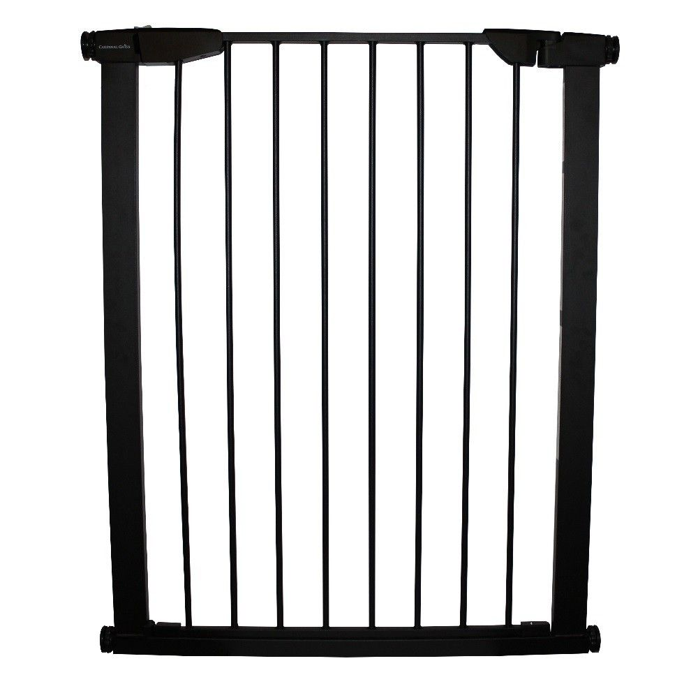 """Cardinal Extra Tall Premium Pressure Pet Gate Black 29.5"""" - 32.5"""" x 36"""" - XTPPG-B. The Extra Tall Premium Pressure Gate is an upgrade to standard pressure gates with new features and functions."""
