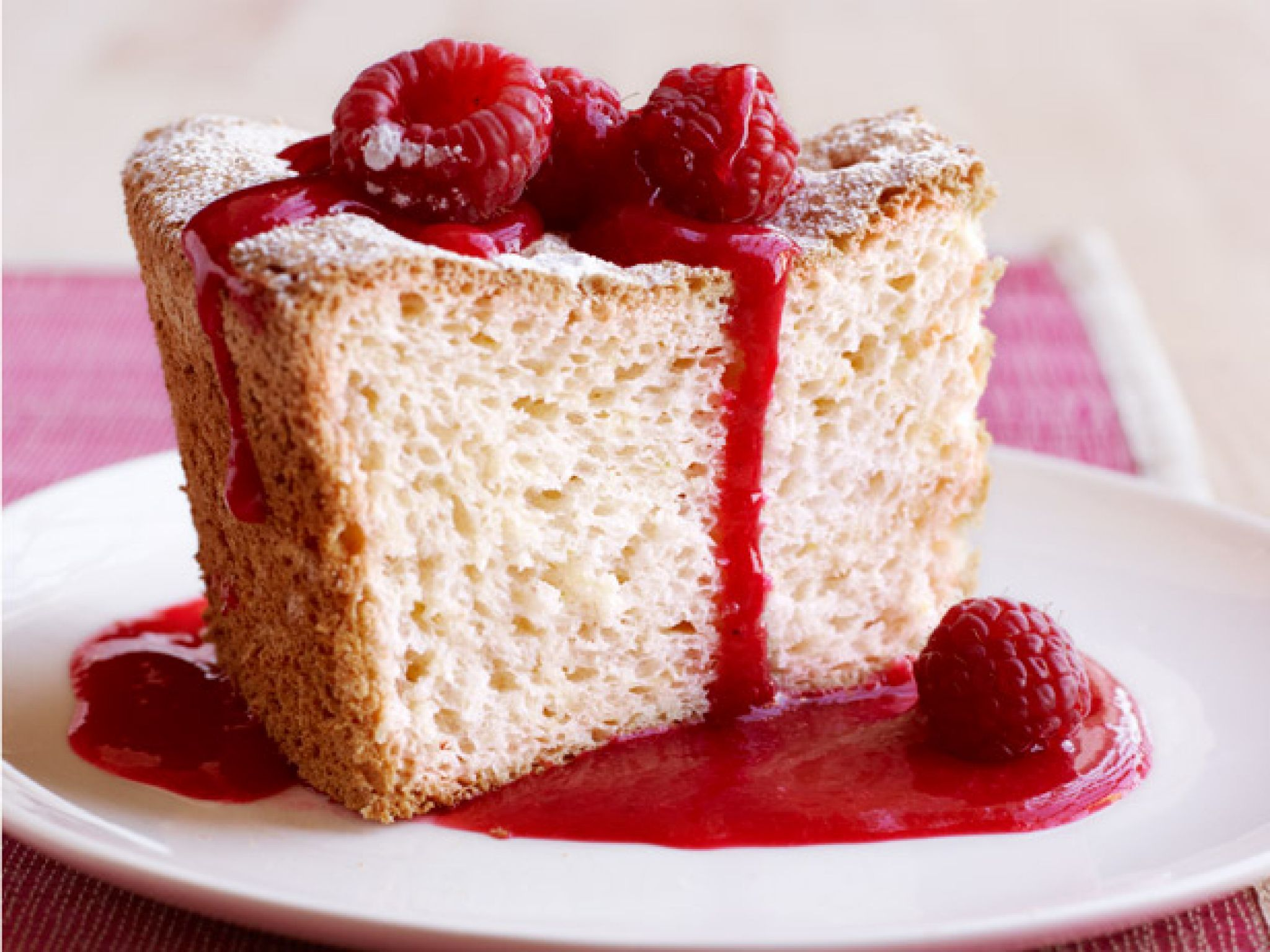 Healthy holiday desserts food network angel food cakes food ginger angel food cake this light airy cake from food network magazine is flavored forumfinder Choice Image