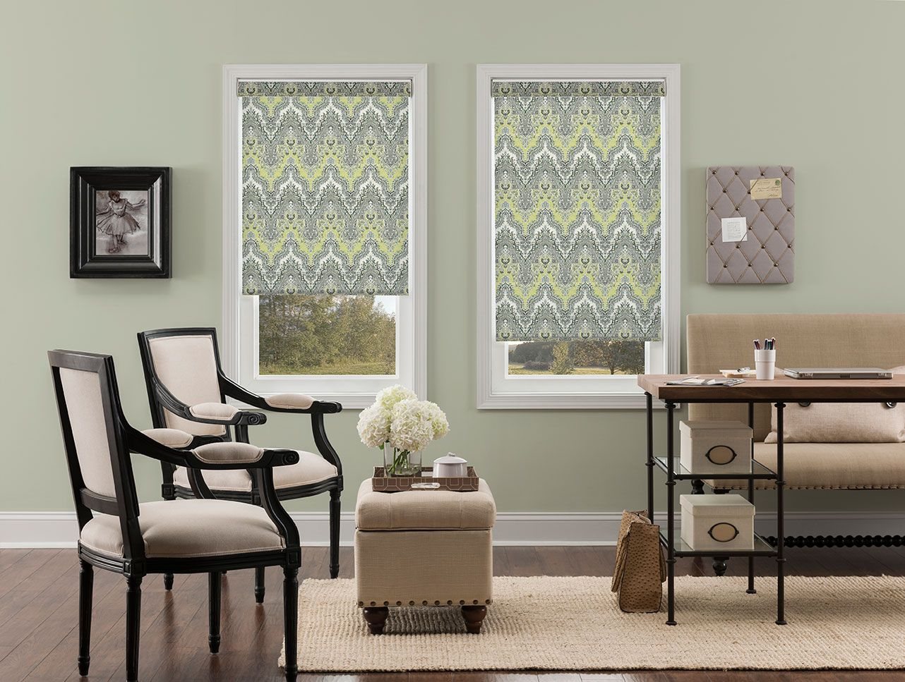 Merveilleux Waverly Palace Sari Light Filtering Fabric Roller Shades In Elephant.  #waverly #waverlyblinds #blinds #rollershades
