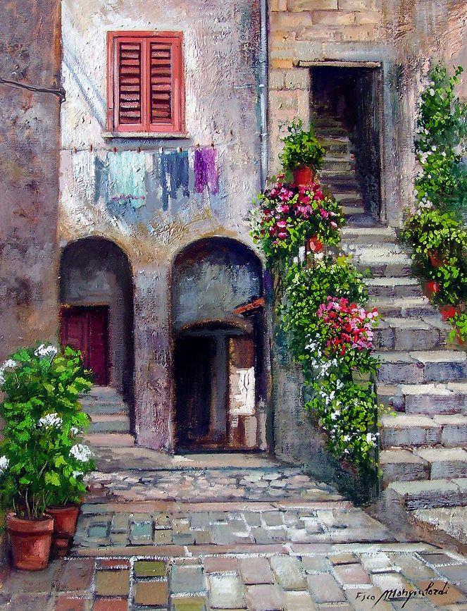 Piccolo Cortile antico Francesco Mangialardi | presepi | Pinterest ...