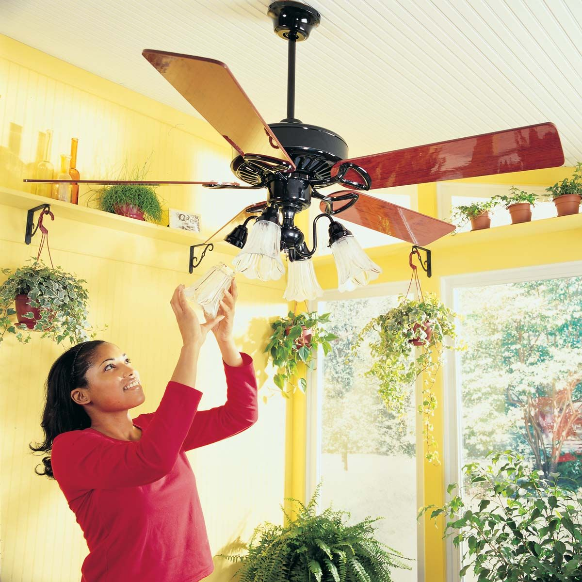 Switch Your Ceiling Fan Direction Ceiling Fans Should Turn Clockwise In The Colder Months Which Pushes Warm Air Bac Homeowner Ceiling Fan Ceiling Fan Wiring