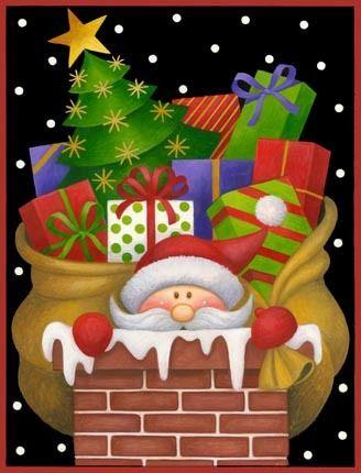 Chimney Santa -- by Stephanie Stouffer, copyright 2015