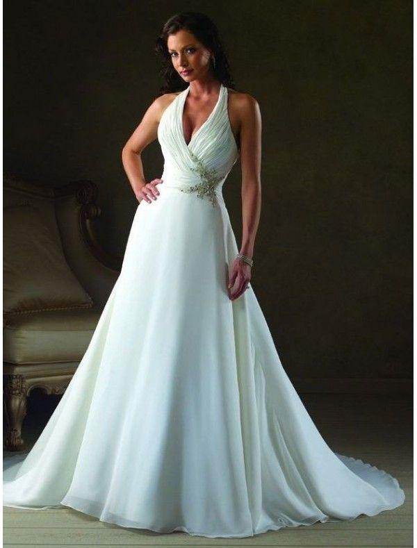 chiffon-halter-neckline-a-line-wedding-dress-with-rouched-bodice.jpg ...
