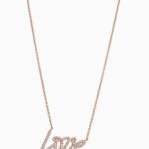 Paloma picasso love pendant in 18k rose gold with diamonds small paloma picasso love pendant in 18k rose gold with diamonds small aloadofball Image collections