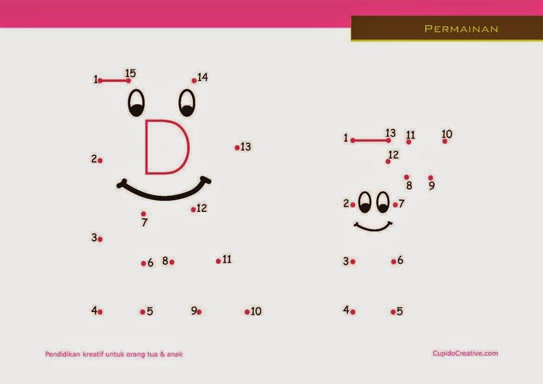 Belajar Dot To Dot Mengurutkan Angka Sambil Mengenal Huruf