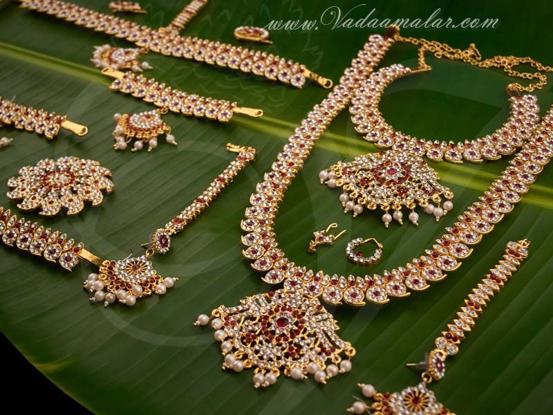 80702c8783 Mango Design India bridal dance jewelry Bharatanatyam, Kuchipudi jewellery  full set