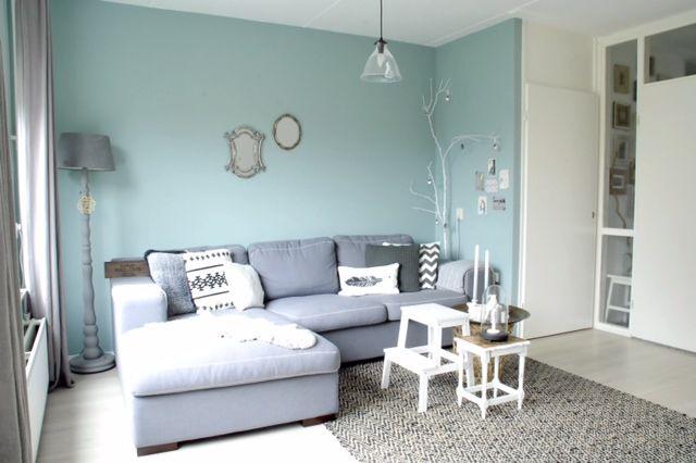 Kleur is early dew woonkamer pinterest kleur muur en huisdecoratie - Kleur verf moderne woonkamer ...