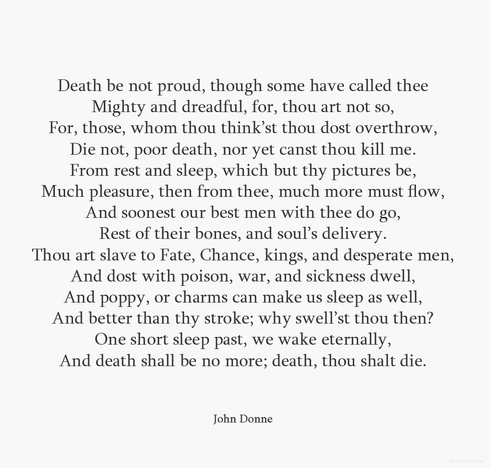 john donne death be not proud and god will wipe away every tear john donne death be not proud and god will wipe away every tear from