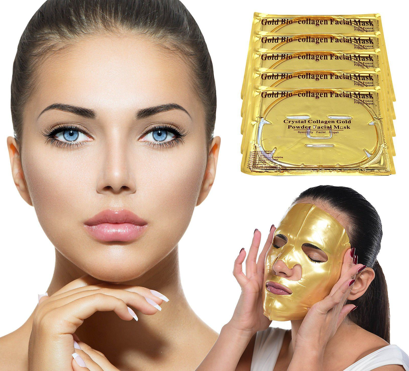 Gold Bio Collagen Face Mask Puffy eye treatment
