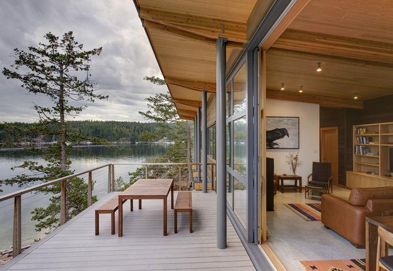 Superbe maison en bois sur pilotis avec vue imprenable sur le fleuve - Plan Maison Bois Sur Pilotis