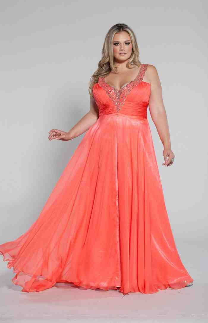 Coral Plus Size Bridesmaid Dresses