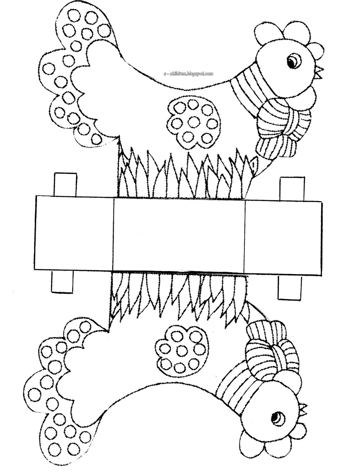 Lavoretti Di Pasqua Per Bambini Scatole A Forma Di Gallinelle