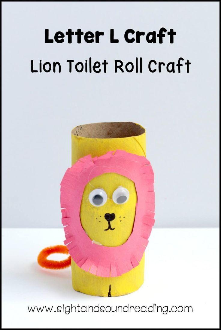 Letter L craft Lion Toilet Roll Craft Letter l crafts