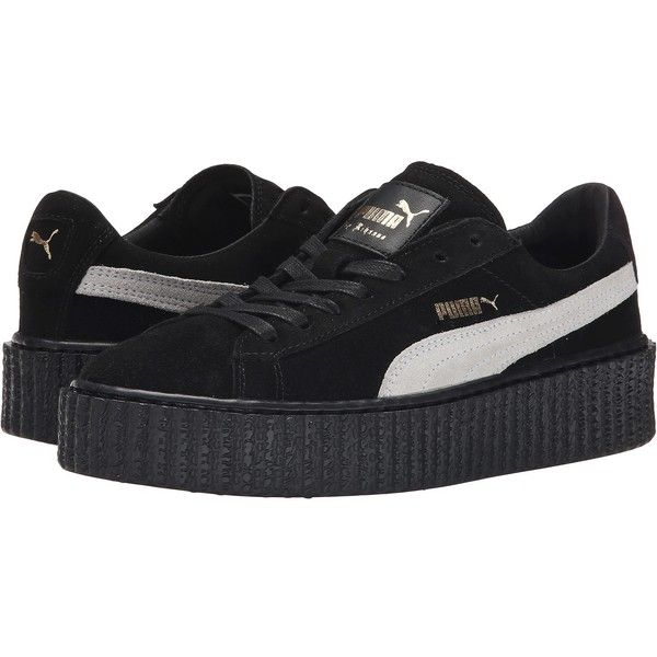 black puma platform shoes