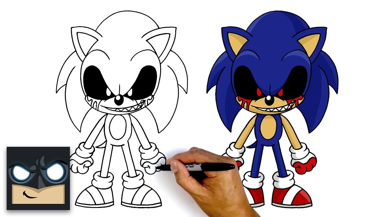 How To Draw Sonic Exe Step By Step Tutorial Youtube Drawings How To Draw Sonic Step By Step Drawing