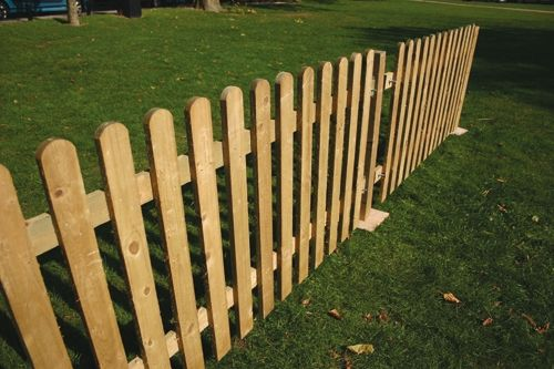 Picket Fence Panels 4ft Flat Top Picket Fencing For Awesome And