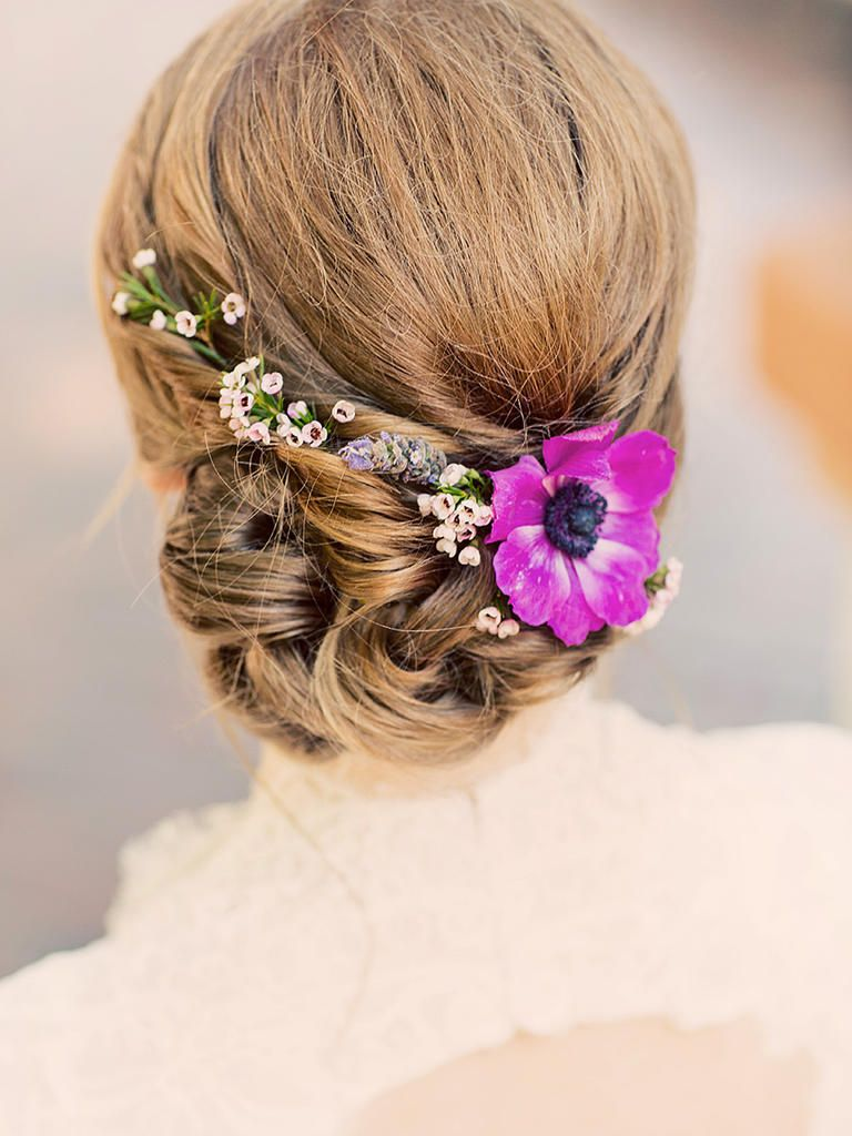 17 hairstyles for long hair with flowers | wax flowers, weddings and