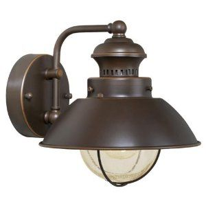 Vaxcel Ow21581bbz Lighthouse 1 Light Small Outdoor Lighting Wall Lamp Fixture Br Outdoor Wall Lamps Outdoor Wall Mounted Lighting Outdoor Wall Light Fixtures