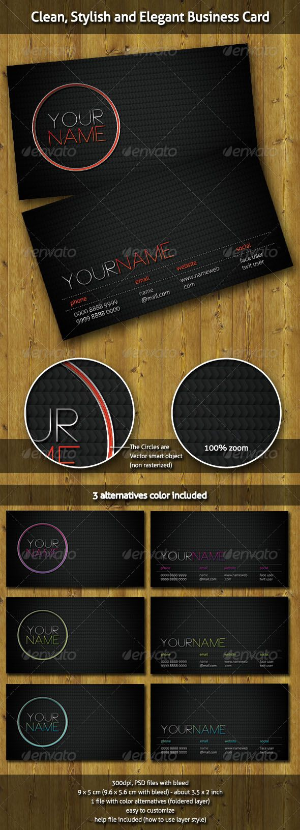 Clean, Stylish and Elegant Business Card | Elegant business cards ...